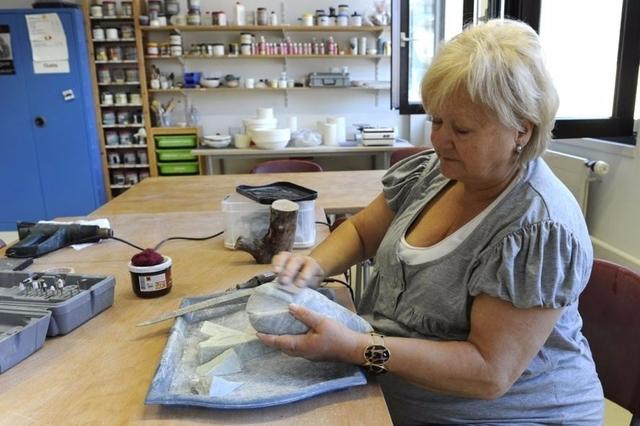 Atelier de sculpture de l'atelier romand de la fédération des aveugles (Image: Philippe Maeder)